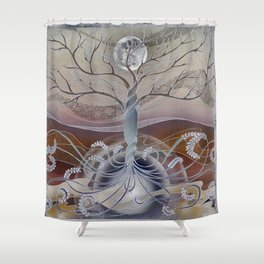 winter in the garden of eden Shower Curtain
