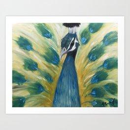 Brooding Peacock Art Print
