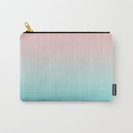 Pastel Ombre Millennial Pink Blue Teal Gradient Pattern Carry-All Pouch