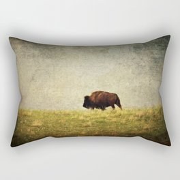 Lone Buffalo Rectangular Pillow
