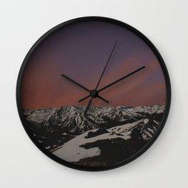 Sunset on Elbert Wall Clock