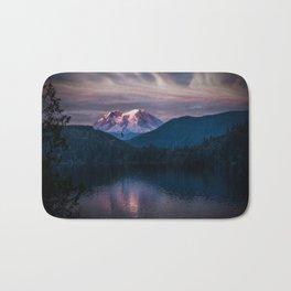 Sunset Mt. Rainier, Mineral, Washington Bath Mat