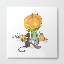 Little jack-o'-lantern Metal Print