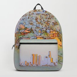 The city of dreams - skyline at dusk Backpack