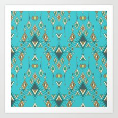 Vintage ethnic tribal aztec ornament Art Print
