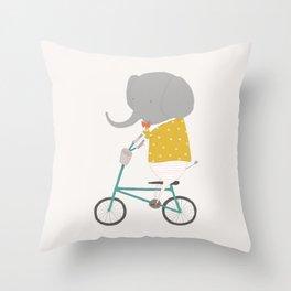 Emerson Rides Throw Pillow