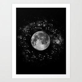 Astrology Constellation Map Art Print Art Print