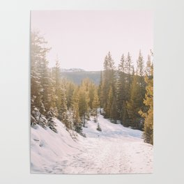 bright rays on a white canvas Poster
