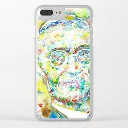 HERMANN HESSE - watercolor portrait Clear iPhone Case