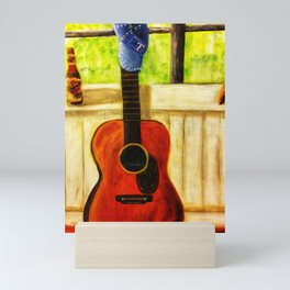 Tex's Guitar Mini Art Print