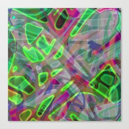 Colorful Abstract Stained Glass G300 Canvas Print