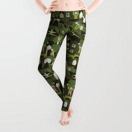 Indoors & outdoors (green camo) Leggings