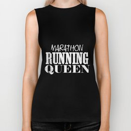 Marathon Running Queen | Runner Woman Girl Women Biker Tank