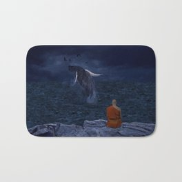 La preciosa mente de un monje - The beautiful mind of a monk Bath Mat