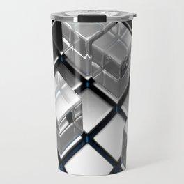Abstract cubes pattern Travel Mug
