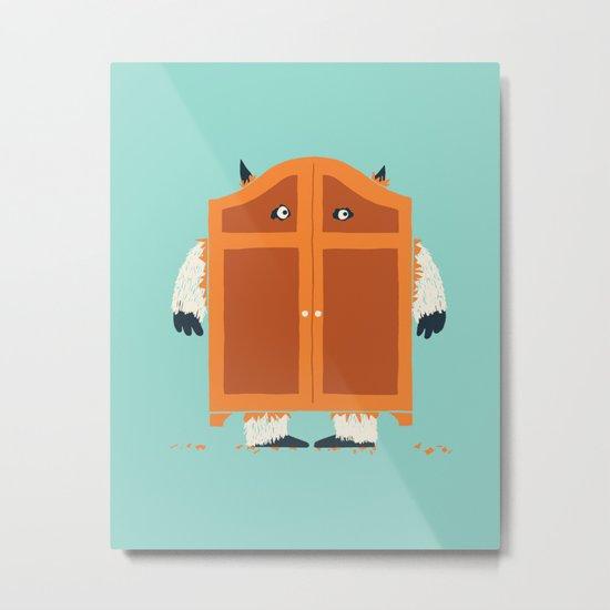 Monster in the closet Metal Print