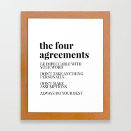 the four agreements Framed Art Print