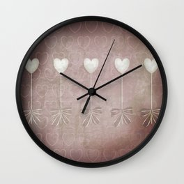 Lost love hearts in antique style Wall Clock