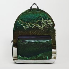 Glass-like Turquoise Waves Photography Backpack