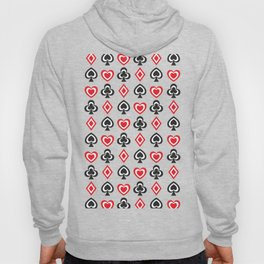 Aces Hearts Spades Diamonds Clovers Poker all Over Print Hoody