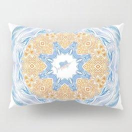 Tribal Sailfish Mandala Pillow Sham