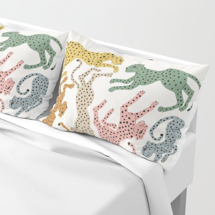 Rainbow Cheetah Pillow Sham