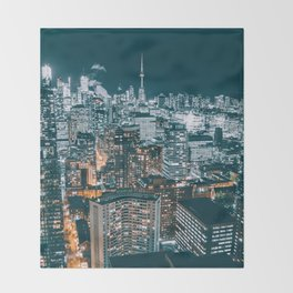 Toronto by night - City at night Throw Blanket