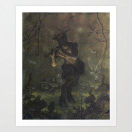 Pan's Night Song Art Print