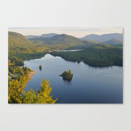 Lac in Mont-Tremblant national park in sunshine, Quebec, Canada Canvas Print