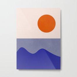 abstract minimal 50 Metal Print