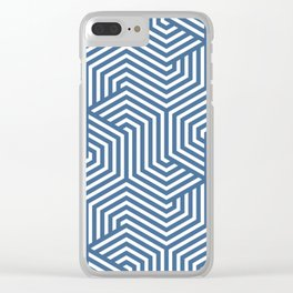 Queen pink - blue - Minimal Vector Seamless Pattern Clear iPhone Case
