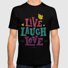 live laugh love LARGE Black Mens Fitted Tee