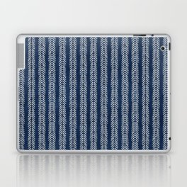 Mud cloth - Navy Arrowheads Laptop & iPad Skin