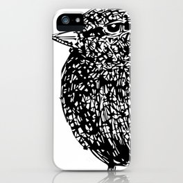 Not Today!  Cute Fat Bird Illustrations iPhone Case