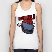 squirrel Tank Tops featuring SQUIRREL! by JVZ Designs