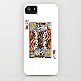 Horror Skeleton King Playing Card Picture iPhone Case
