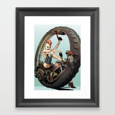 One Track Mindy Framed Art Print