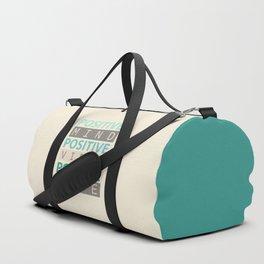 Positive Mind Positive Vibes Positive Life Duffle Bag
