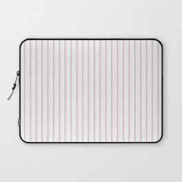 Alice Pink Pinstripe on White Laptop Sleeve