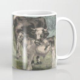 Vintage Cattle Farm Illustration (1856) Coffee Mug