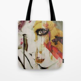 Pages Abstract Portrait Tote Bag