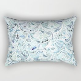 Ice and Diamonds Art Deco Pattern Rectangular Pillow