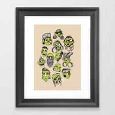 Tribe City Framed Art Print