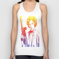 princess leia Tank Tops featuring Princess Leia by mchlsrr