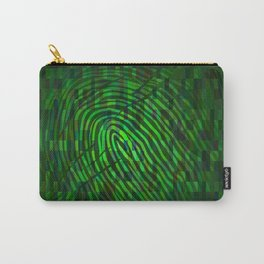 Silhouette of fingerprint Carry-All Pouch