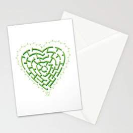 Lost in the Love Maze Stationery Cards