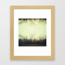 Green trees.  Framed Art Print