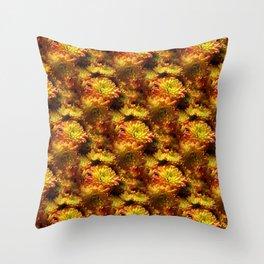 Fall Chrysanthemums Throw Pillow