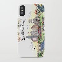 austin iPhone & iPod Cases featuring We Belong in Austin by Brooke Weeber