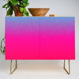 Blue purple and pink ombre flames Credenza
